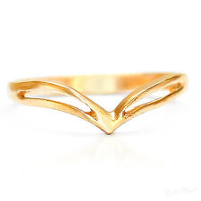 Yellow Gold Filled 14k Chevron Arrow Ring Warranty Pinkie Sizeable Chic Round