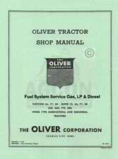 Oliver Fleetline 66 77 88 SUPER 550 660 770 880 Fuel System Service Manual
