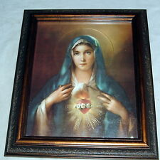 IMMACULATE HEART of MARY Framed 8x10 New Catholic Chrom