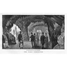 PARIS Exhibition The Aquarium on the Trocadero - Antique Print 1878