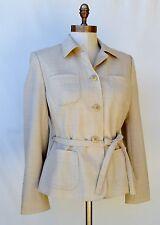 NEW!! NWT Ann Taylor LOFT Khaki belt safari all season Jacket Blazer Top Sz 8 P