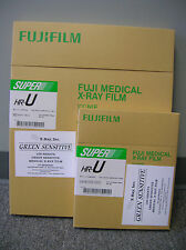 Fuji HR-U 14x17 AND 8x10 X-ray Film(Green) 100sht box ( 1 box of each)