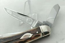 "1st Generation Bulldog Sowbelly Stockman Knife ""Virginia Tobacco King"" , 1984"