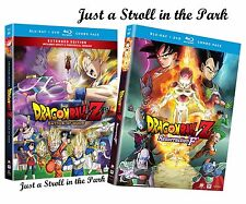 "Dragon Ball Z Series: Movies Battle of Gods & Resurrection ""F"" BluRay Sets NEW!"
