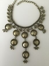 BNWOT GOLD TONE METAL ORNATE DISK/COIN/BEAD  CHOKER/NECKLACE
