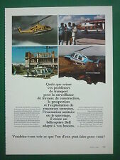 10/1980 PUB BELL HELICOPTER TEXTRON HELICOPTERE BELL 222 JET RANGER FRENCH AD