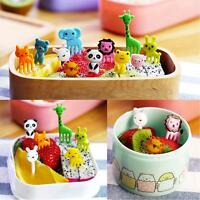 Pack of 8/10 Bento Children Lunch Box Animal DIY Cupcake Food Fruit Picks Forks