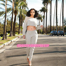 2016 New Women Long Sleeve Mesh Bodycon Pants Casual Sexy 2PC Bodysuit Outfits