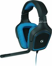 Logitech G430 Surround Sound Gaming Headset Black Blue