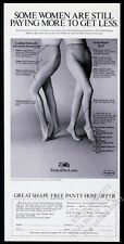 1972 Fruit of the Loom pantyhose 2 women photo vintage print ad
