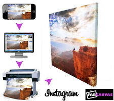 YOUR INSTAGRAM PHOTO/IMAGE/PICTURE ON CANVAS 18 x18 inch SQUARE CANVAS PRINT