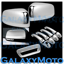 14-15 Dodge Durango Chrome Half Mirror+ 4 Door Handle+Smart Hole+Tailgate Cover