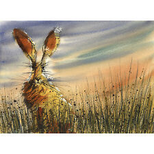 HARE PRINT from a watercolour PAINTING British wildlife art Christmas present