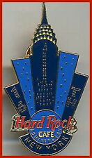 "Hard Rock Cafe NEW YORK 2000 16th Anniversary PIN Blue Chrysler Building ""16"""