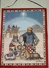 Jim Shore Christmas Nativity Tapestry Bannerette Wall Hanging