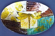 "Dragonfly Design 9.5"" Decorative Glass Dish"