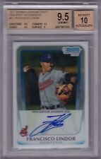 Francisco Lindor Indians 2011 Bowman Chrome Draft Rookie rC BGS 9.5 Auto 10 QTY