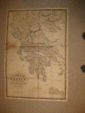 HUGE GORGEOUS FOLIO SIZE IMPORTANT ANTIQUE 1843 GREECE WYLD MAP MONUMENTAL RARE