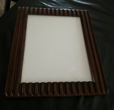 "Fetco carved ripple wood picture frame 8x 10"" photo"