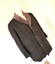 """Vintage 60s  """"Meakers Of Piccadilly"""" Wool Mens Casual Overcoat Mods Size 2XL"""