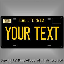 Black California ANY TEXT Your Personalized Text Aluminum License Plate Tag 1969