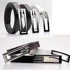 POP Simple luxury Synthetic leather belt men's G-shaped wild belt buckle USMD