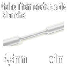 Gaine Thermo Rétractable 2:1 - Diam. 4,5 mm - Blanc - 1m