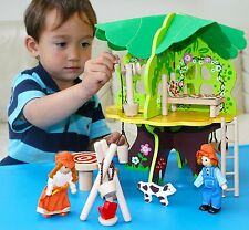Toys of Wood Oxford Wooden Doll House / Tree House with Furniture, Dolls and