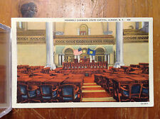 Assembly Chamber State Capitol Albany NY Vintage Postcard Linen Color Unposted