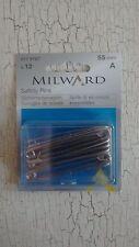 12 x Milward 55mm mild steel safety pins