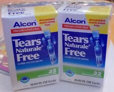 64 Vials Alcon Tears Naturale- FREE Lubricant Eye Drop +Tracking
