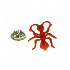 Detailed Bright Red Ant Metal Pin Badge insect ant farm AJTP528