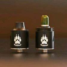 Wolfpaw RDA, Bottom feed , Stabilised wood 510 drip tip , 24mm velicity
