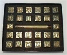 Leather Embossing Stamps Western style Alphabet  Set 3/4 inch Worldwide posting