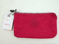 NWT KIPLING Pink Blooming Rose Creativity Pouch 3 Slot Wallet Clutch Case AC7518