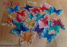 24 X CHRISTMAS COLOURFUL BUTTERFLY EDIBLE WAFER PAPER CUP CAKE TOPPER DECORATION