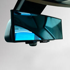 300mm Wide Anti-Glare Blue Tint Curved Surface Rear View Mirror Fit All Car XC
