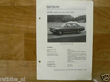D11-DATSUN LAUREL SEDAN DE LUXE 1977-1978 -INFO