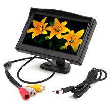 5'' TFT LCD Car Rear View Backup Reverse Monitor Parking +Night Vision Camera