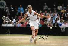 chris evert in action wimbledon final 1981 signed 12x8 photo