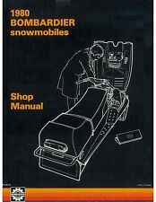 Bombardier snowmobile service shop manual 1980 Futura LC & 1980 Alpine 640