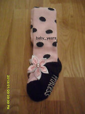 BABY GIRLS BALLET SHOE STYLE TIGHTS PINK FLOWER POLKA DOT BABY SHOWER GIFT NEW