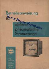 TELTOW, Werbung 1962, GRW-Betriebsanweisung für elektro-pneum. Stromwaage