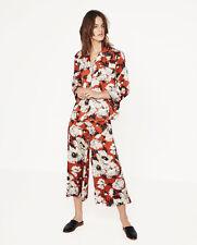 Zara Brick Printed Culottes Size Med