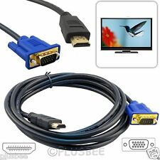 2.5M HDMI to SVGA 1080p Digital Video Cable Lead Gold For DVD To LCD Monitor LED