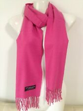 CASHMERE SCARF SOLID DESIGN COLOR HOTPINK SUPER SOFT