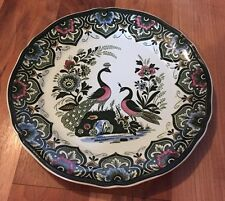Stunning Villeroy & Boch Mettlach Paon 26.5Cm Plate
