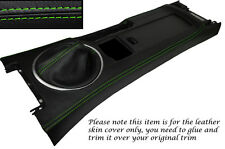 GREEN STITCH CENTRE CONSOLE & GEAR GAITER SKIN COVERS FITS MAZDA MX5 MK3 05-13