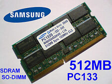 512MB PC133 SDRAM CL3 NP SO-DIMM 144 pin Mémoire Portable LAPTOP SODIMM RAM