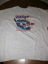 RAGING EAGLE RACING tee 2XL Outlaw Pro Mod T shirt XXL drag-racing Michigan OG